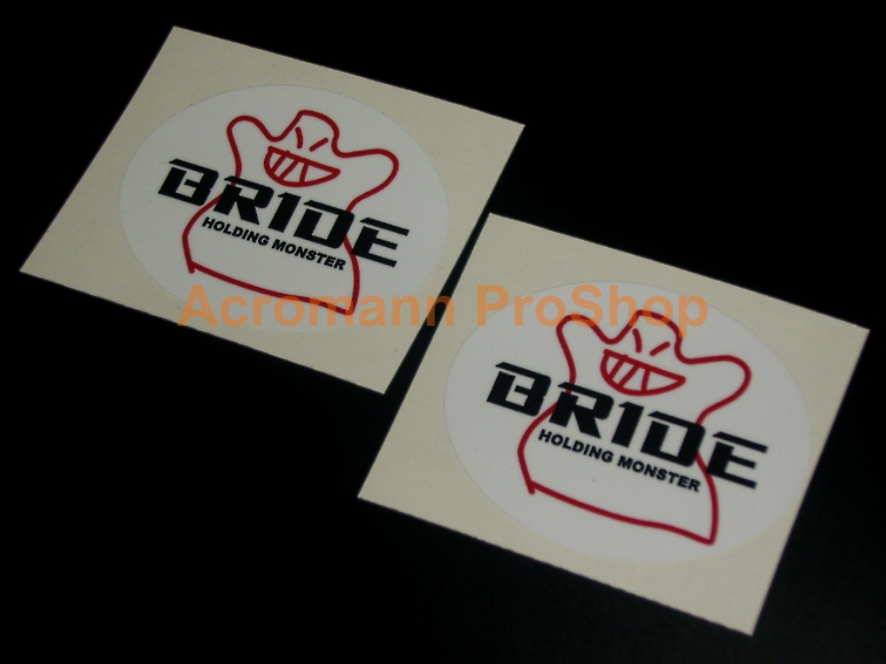 BRIDE 6inch Decal (Style#8) x 4 pcs